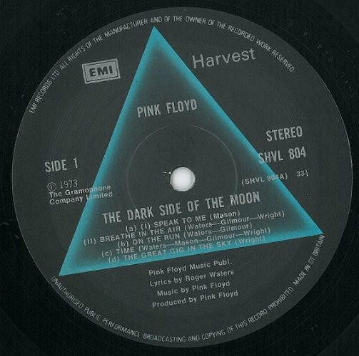 Pink Floyd The Dark Side Of The Moon Record Album Planet